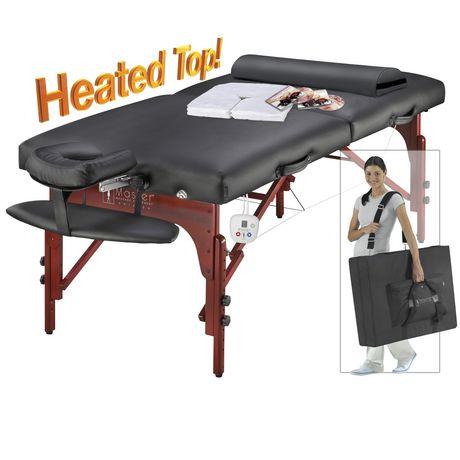 table de massage portable montclair thermatop de master massage en noir de 31 po avec salon de. Black Bedroom Furniture Sets. Home Design Ideas