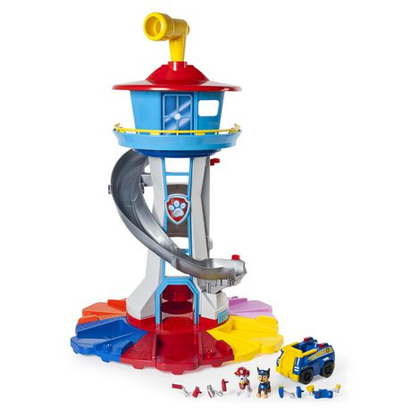 Paw Patrol My Size Lookout Tower With Exclusive Vehicle, Rotating Periscope And Lights And Sounds Aaa