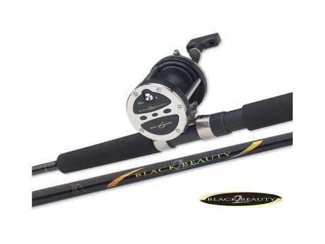 Black beauty 2 trolling combo 6 39 for Best walmart fishing pole