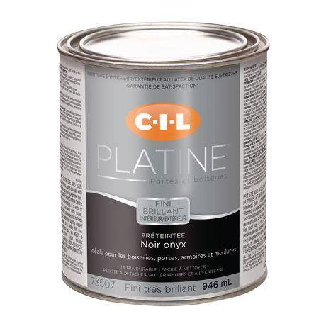 Cil Platinum Interior Exterior High Gloss Door Trim Paint Pre Tinted Black