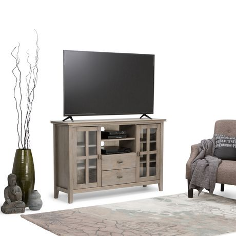 Grand meuble t l stratford de wyndenhall for Grand meuble tele