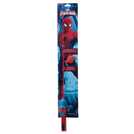 Shakespeare marvel ultimate spider man kids 39 fishing kit for Fishing kit walmart