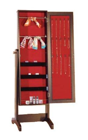 Brassex inc brassex jewelry cabinet with mirror walmart for Jewelry box walmart canada