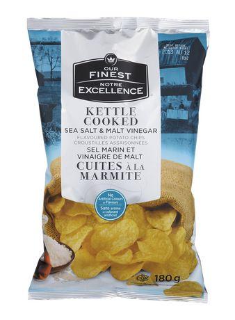 Our Finest Kettle Cooked Sea Salt Malt Vinegar Chips