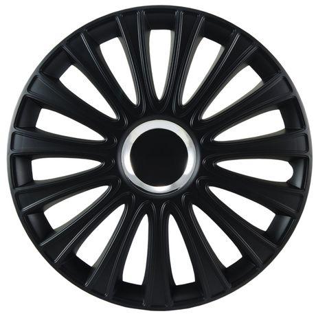 """Alpena 16"""" Le Mans Pro Premium Wheel Covers Matte Black"""
