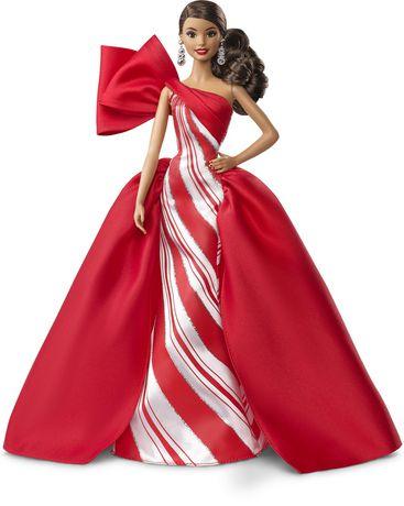 2019 Holiday Barbie Doll, Brunette