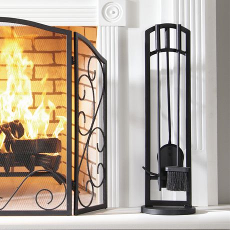 Pleasant Hearth Arched 4 Piece Fireplace Tool Set Walmart Ca