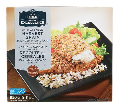 Our finest wild alaskan harvest grain breaded pacific cod for Cod fish walmart