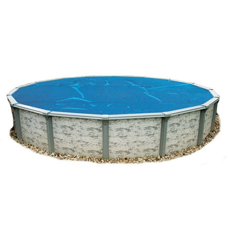 Blue wave round 8 mil solar blanket for above ground pools for Largest round above ground pool
