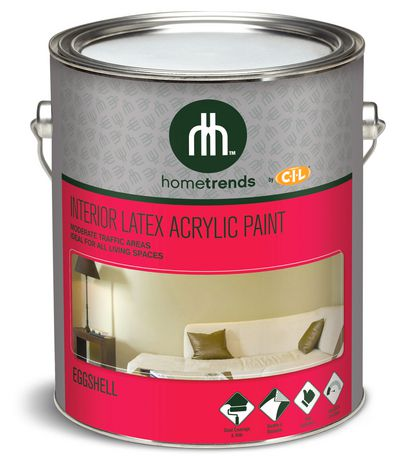 Hometrends By Cil Interior Latex Acrylic Eggshell