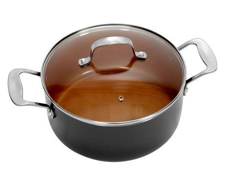 casserole bouillon avec couvercle de gotham steel de 3 ptes capacit de 2 8 l walmart canada. Black Bedroom Furniture Sets. Home Design Ideas
