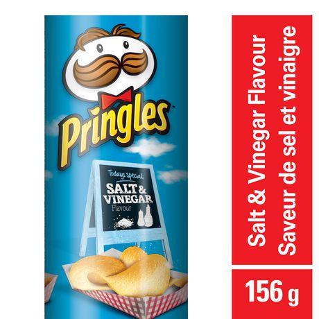 Pringles Salt & Vinegar Flavour Potato Chips 156 G by Pringles