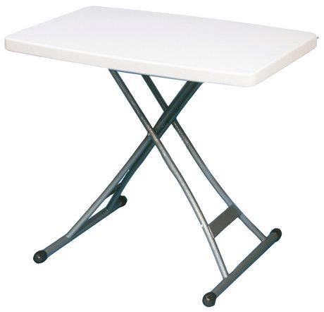 Adjustable personal table 20 x30 for Table pliante walmart