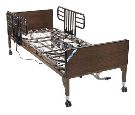 drive medical no gap half length 1 pair side bed rails with brown vein finish walmart canada. Black Bedroom Furniture Sets. Home Design Ideas