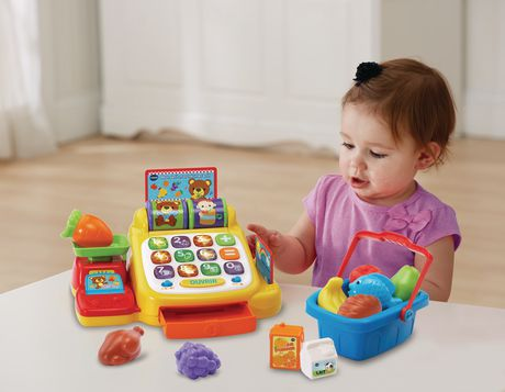 vtech ring learn cash register interactive learning toy french. Black Bedroom Furniture Sets. Home Design Ideas