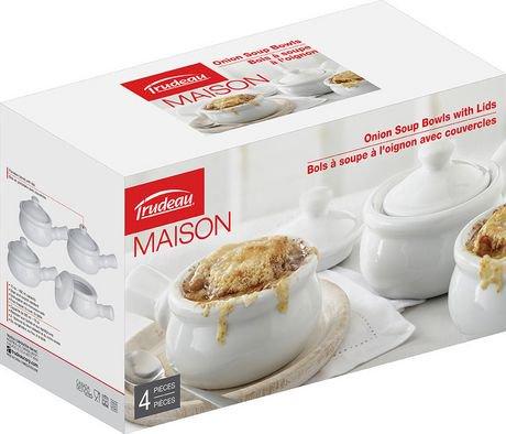 Trudeau maison bols au soup l 39 oignon en porcelaine for Accessoires cuisine trudeau