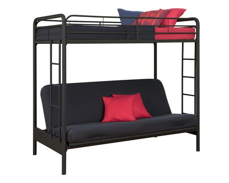 Dhp Twin Over Futon Bunk Bed Black