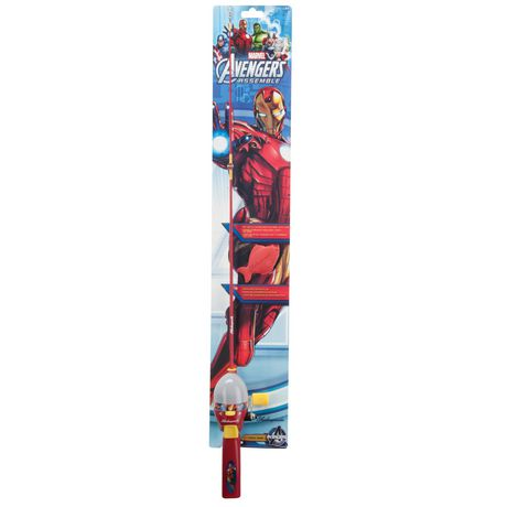 Shakespeare ironman marvel avengers assemble kids for Fishing kit walmart