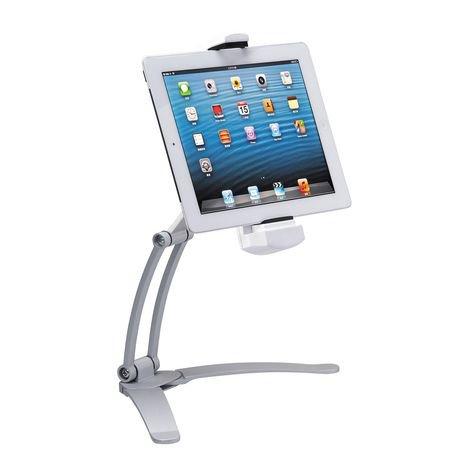 Support de cuisine 2 en 1 pour ipad et tablettes de cta for Conception cuisine pour ipad