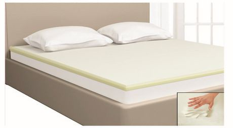 surmatelas fusion de mainstays en mousse visco lastique 3 81 cm 1 5 po. Black Bedroom Furniture Sets. Home Design Ideas
