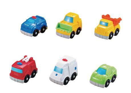 Kid Connection Squeezy Vehicles Dinosaur Cars 4 Pack