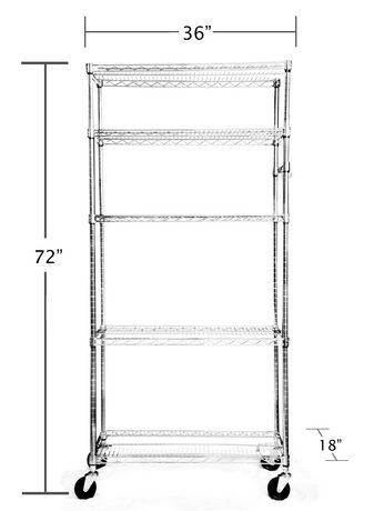 trinity tag re grillag e 5 tablettes ecostorage 36 po x 18 po x 72 po nsf avec. Black Bedroom Furniture Sets. Home Design Ideas