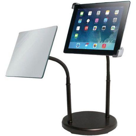 Support universel col de cygne pour dessus de table de for Application miroir pour ipad