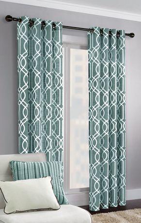 rideau motif g om trique deux tons. Black Bedroom Furniture Sets. Home Design Ideas