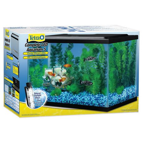 Tetra 5 gallon led aquarium kit for Fishing kit walmart