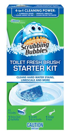 Scrubbing Bubbles Toilet Cleaning System Fresh Brush Max