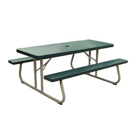 lifetime 6 39 picnic table green walmart canada. Black Bedroom Furniture Sets. Home Design Ideas