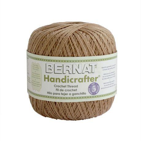 Crochet Yarn Walmart : Bernat Handicrafter Crochet Thread Yarn