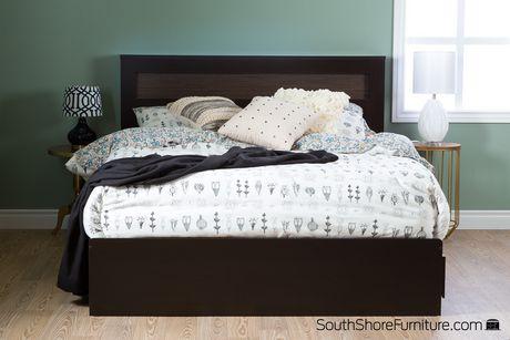 T te de lit double grand de 54 60 po vito de meubles south for Chambre a coucher zebrano