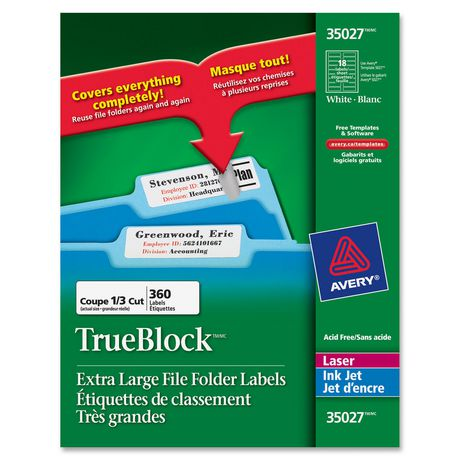 Avery extra large filing label walmartca for Avery large labels