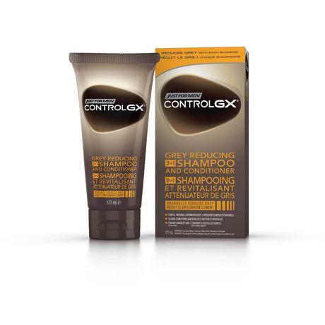 control gx shampoing et revitalisant 2 en 1 pour rduire les cheveux blancs walmartca - Shampoing Colorant Cheveux Blancs