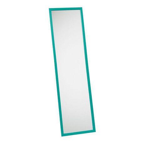 Miroir avec cadre pour porte turquoise for Miroir pour porte