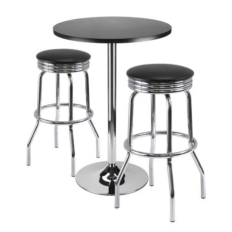 93362 3pc Bar Table With 2 Stools