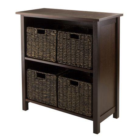 94471 granville 5pc storage shelf with 4 baskets. Black Bedroom Furniture Sets. Home Design Ideas