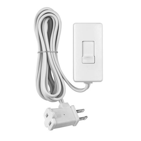 universal plug in lamp dimmer 300w 120v in white. Black Bedroom Furniture Sets. Home Design Ideas