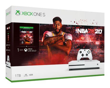 Microsoft Xbox Xbox One S Nba 2K20 Bundle 1Tb (Xbox One) White