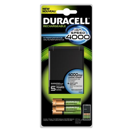 Duracell Battery Charger Ion Speed 4000 1 Count Walmart Ca