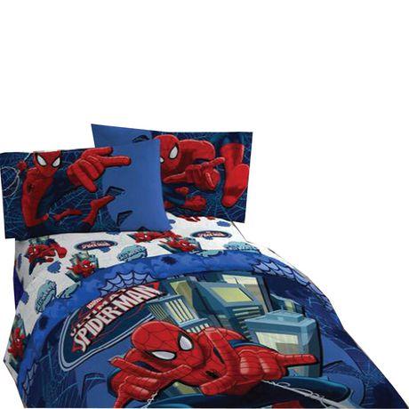 ultimate spiderman ensemble de draps pour lit 1 place. Black Bedroom Furniture Sets. Home Design Ideas