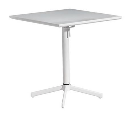 Table carr e pliante big wave blanc 703040 for Table exterieur walmart