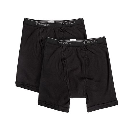 Stanfield's Men's Essentials Boxer Briefs, Pack of 2 ...