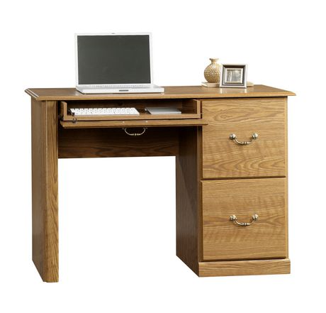 sauder bureau d 39 ordinateur finition ch ne carolina 401562. Black Bedroom Furniture Sets. Home Design Ideas