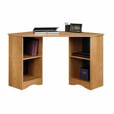 Sauder corner desk highland oak finish 413074 walmart canada - Corner desk canada ...
