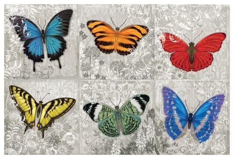 Hopfensperger papillon peinture murale for Decoration murale walmart