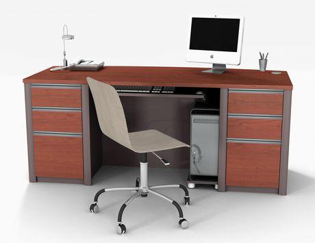 connexion executive desk kit in bordeaux slate. Black Bedroom Furniture Sets. Home Design Ideas
