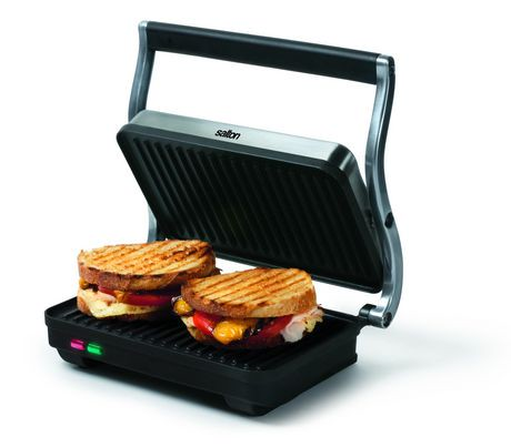 salton stainless steel panini grill walmart canada. Black Bedroom Furniture Sets. Home Design Ideas