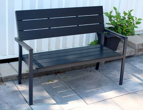 banc en aluminium d 39 henryka. Black Bedroom Furniture Sets. Home Design Ideas
